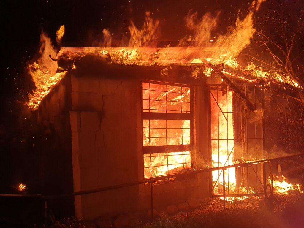 Nocny pożar w Czaplinku