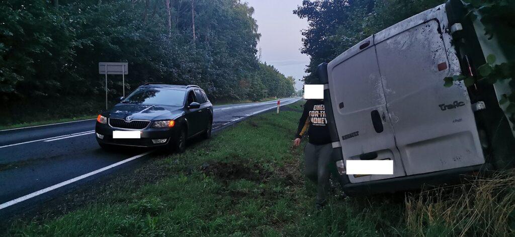 Kierowca próbował ominąć sarnę. Doszło do nieszczęśliwego zdarzenia