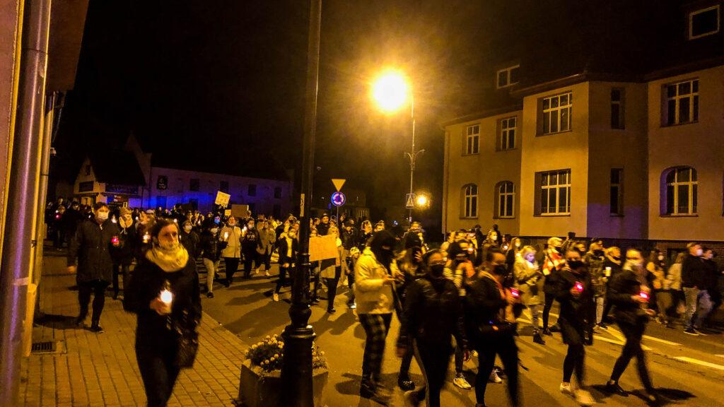 Jak przebiegał protest w Złocieńcu - relacja video