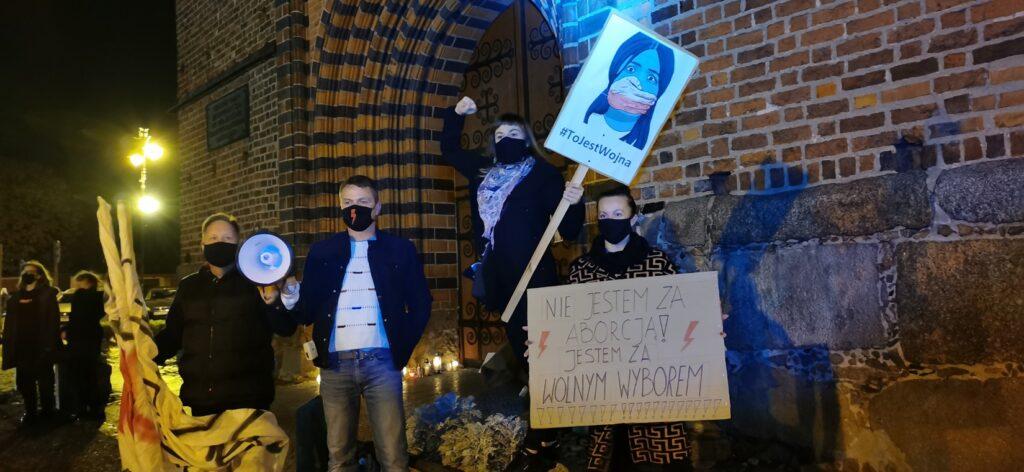 Protest w Drawsku Pomorskim - relacja VIDEO
