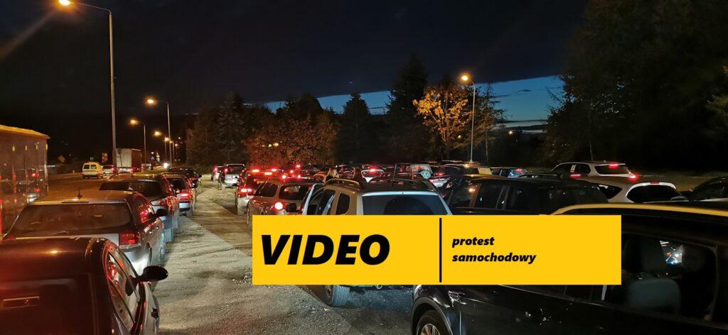 [VIDEO] Mieszkańcy regionu protestowali w Drawsku Pomorskim. Protest samochodowy!