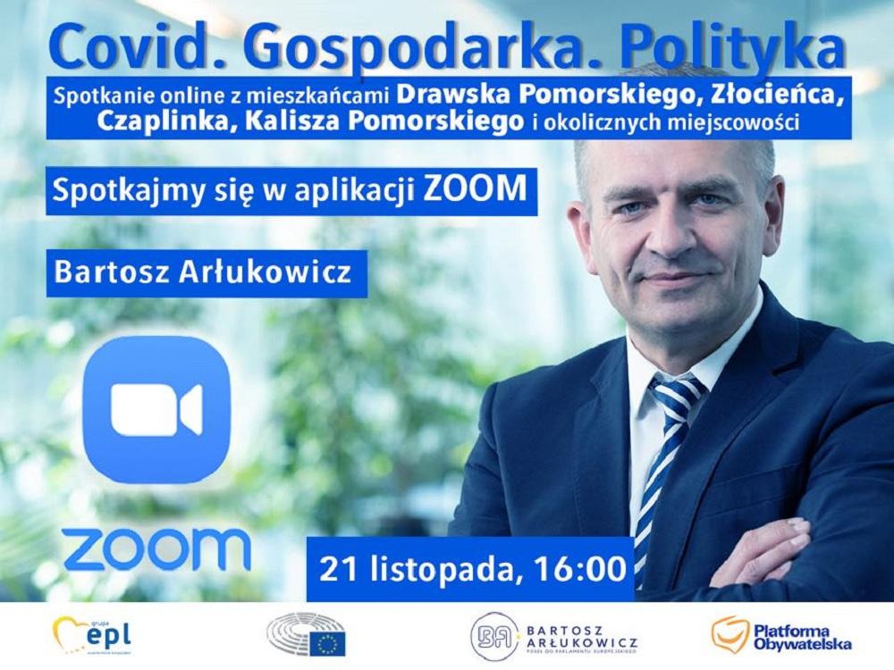Europoseł Bartosz Arłukowicz zaprasza na spotkanie  videokonferencja