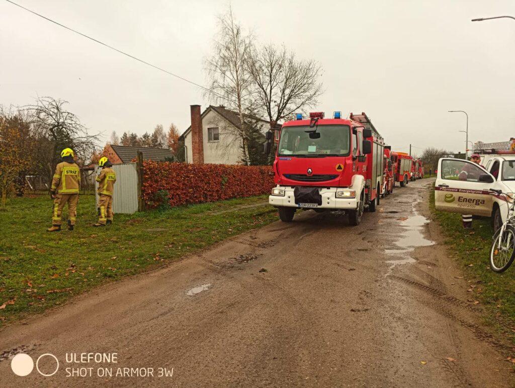 Zdarzenia w regionie - strażacy intensywnie pracują od samego rana