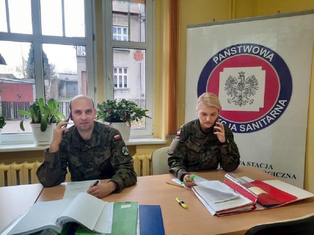 Wojsko wspiera pracę sanepidu