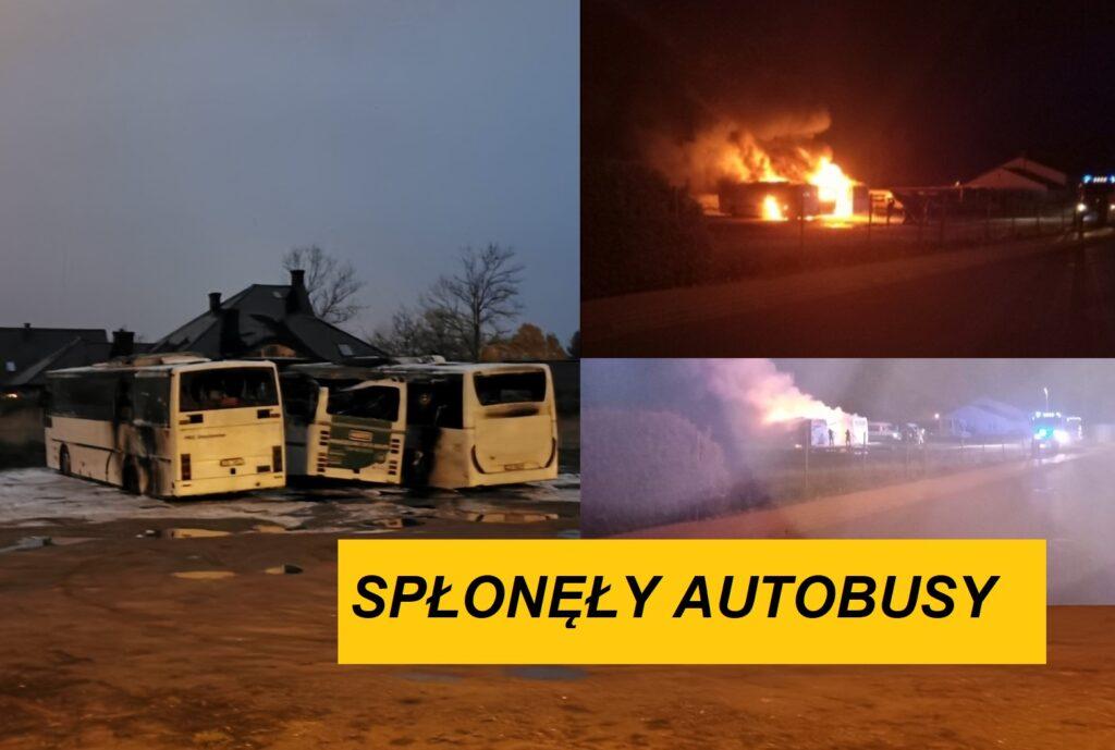 Spłonęły trzy autobusy. To był ogromy pożar