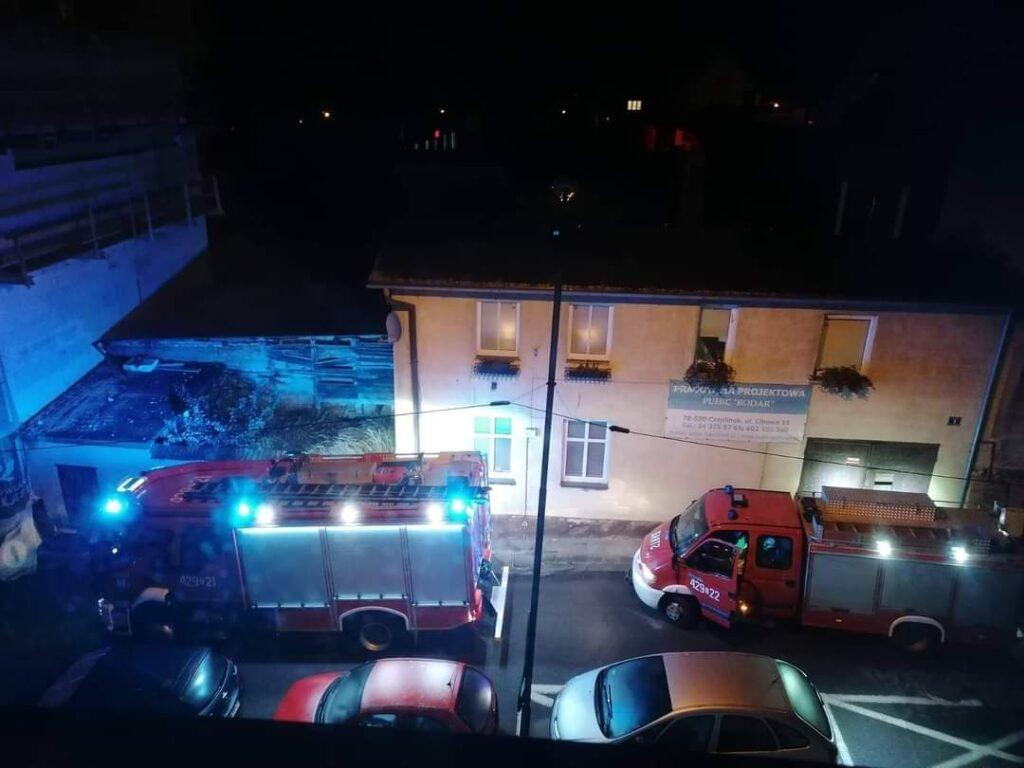 Strażacy udzielali pomocy w Czaplinku