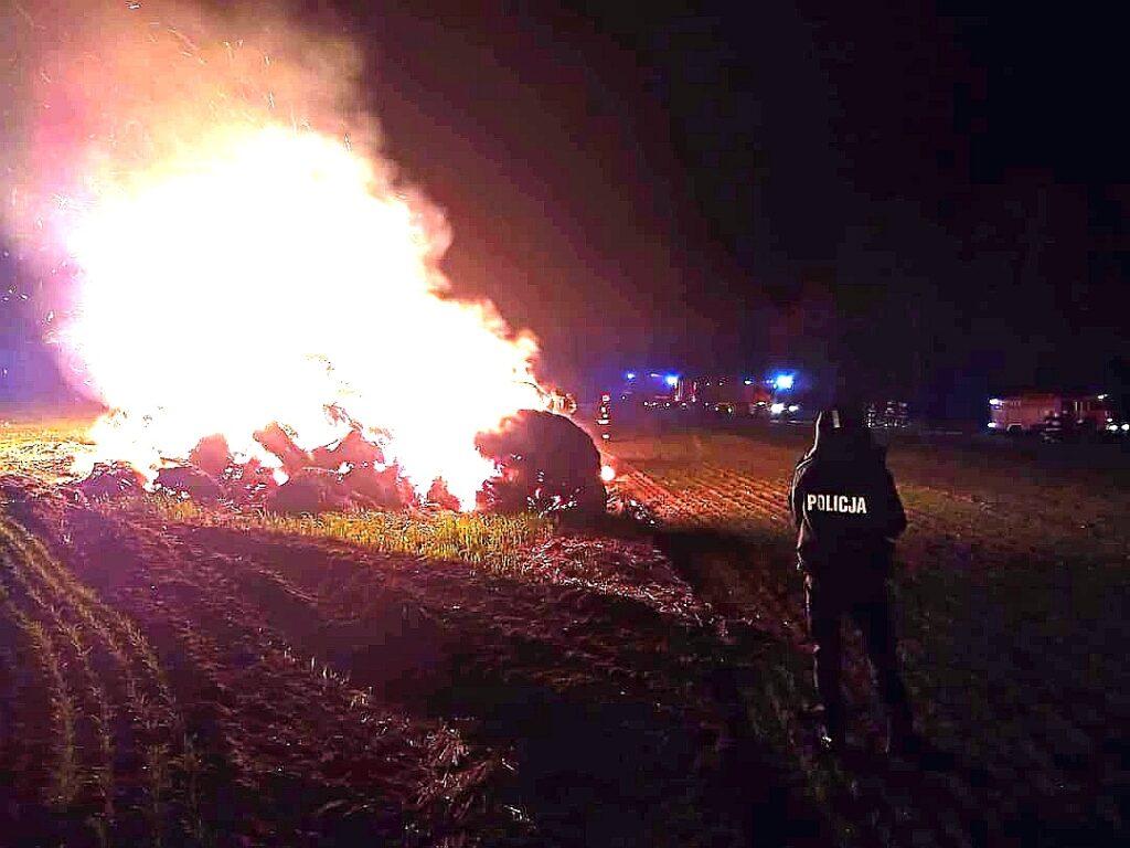 Duży pożar w Byszkowie.