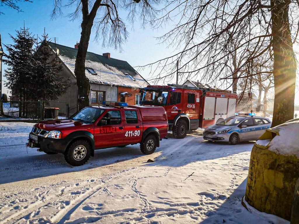 Strażacy z Choszczna gasili pożar w piwnicy