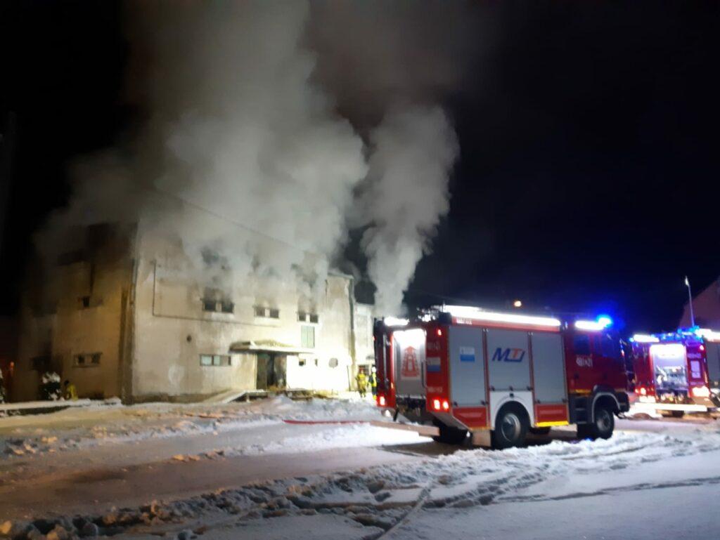 Pożar magazynu w Dargomyślu