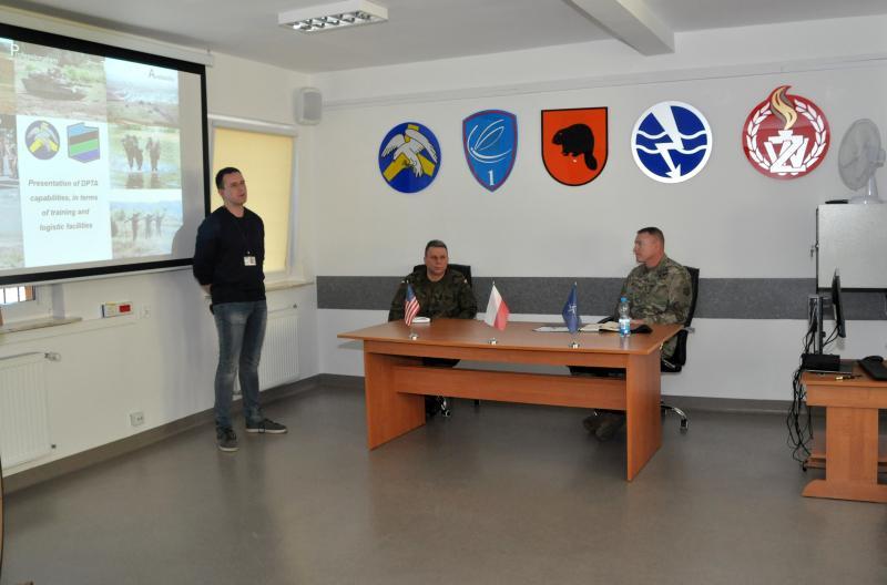 Spotkanie Komendanta CSWL Drawsko z generałem wojsk US ARMY
