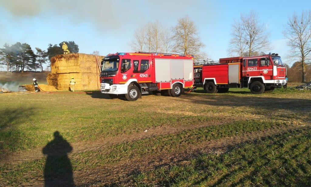 Strażacy walczyli z pożarem w pobliżu miejscowości Łąka