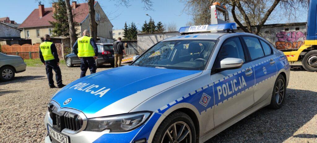 Policyjny pościg ulicami Drawska Pomorskiego
