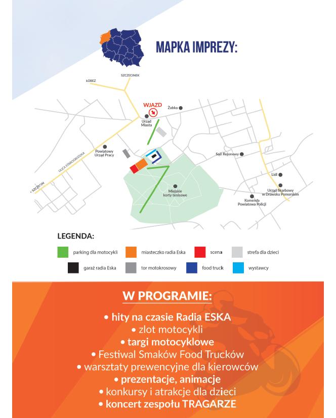 Eska Rider Show i food trucki w Drawsku Pomorskim. Wydarzenie już 12 czerwca !