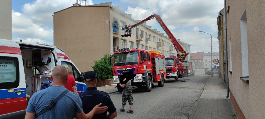 Pożar mieszkania w Drawsku Pomorskim