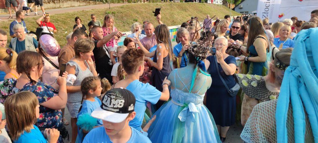 Królowa Drawy wyszła z rzeki  Złocieńcu. Wielki piknik na stanicy wodnej a okazji Święta Drawy
