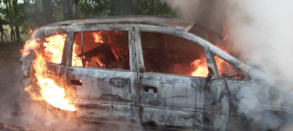 Spalony samochód. Interweniowali strażacy z Czaplinka