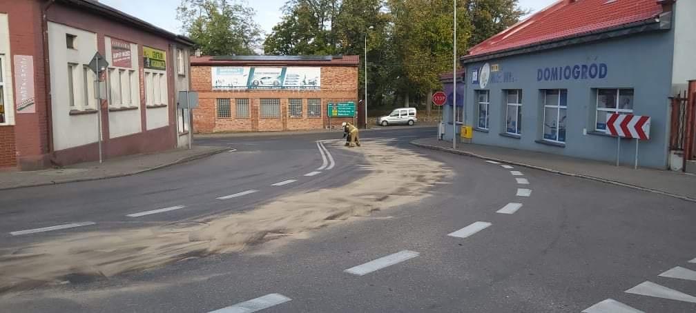 Strażacy usuwali skutki wycieku w Czaplinku