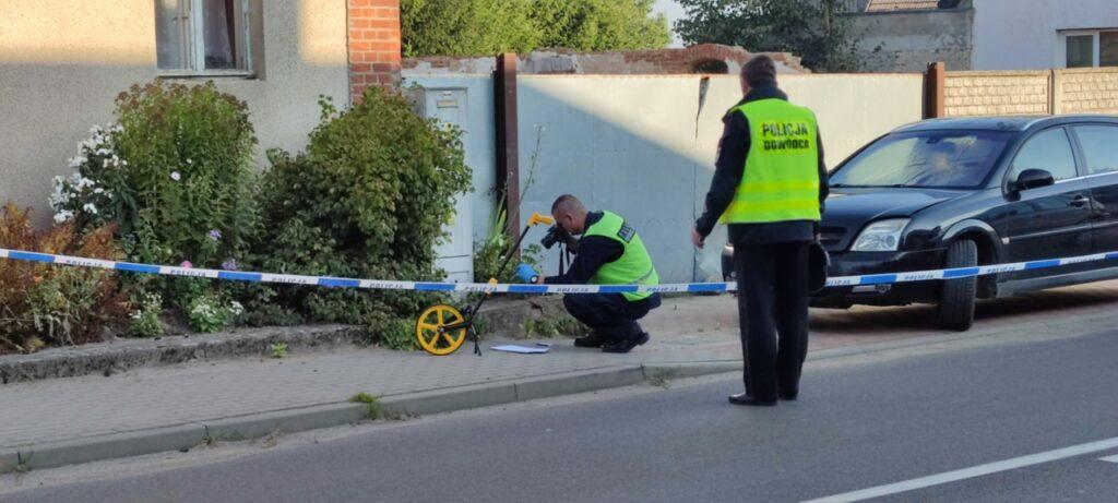 W Wierzchowie padły strzały. Policjanci prowadzą czynności