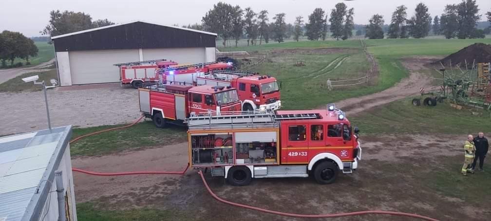 Poranny pożar w gorzelni w Drahimku