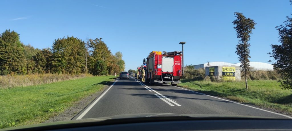 Niebezpieczne zdarzenie drogowe w Złocieńcu