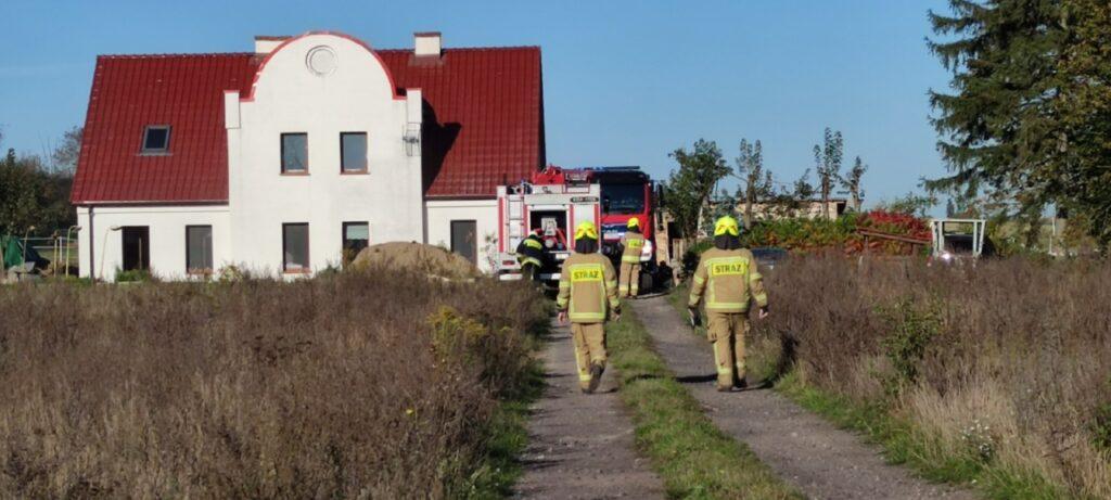 Pożar w domu jednorodzinnym w Żabinku