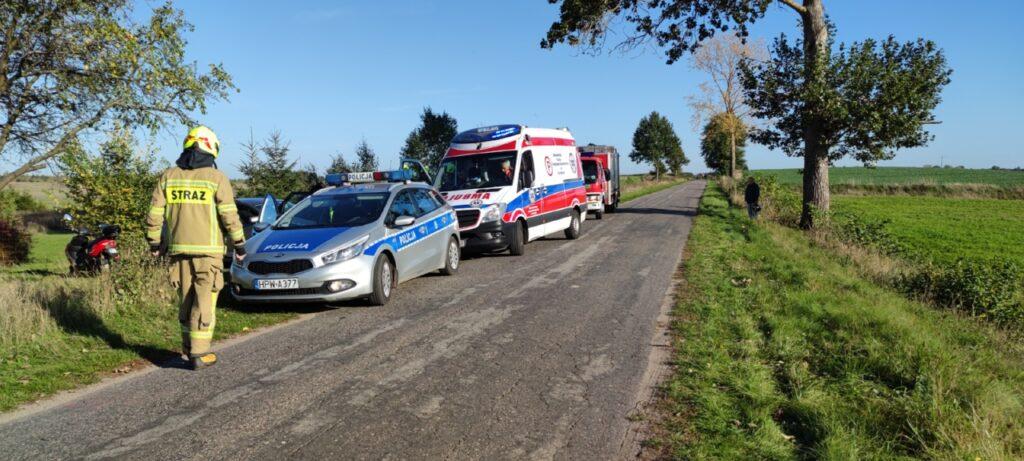 Strażacy ze Złocieńca najechali na wypadek